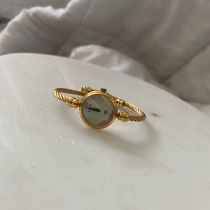gucci mother of pearl watch 18k gold plated